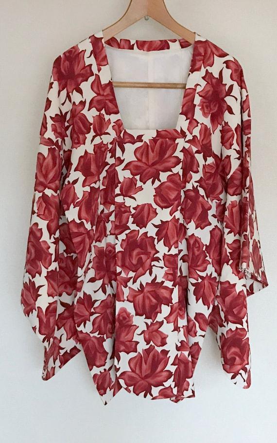 Vintage Kimono Coat, chic coat, Vintage Japanese K