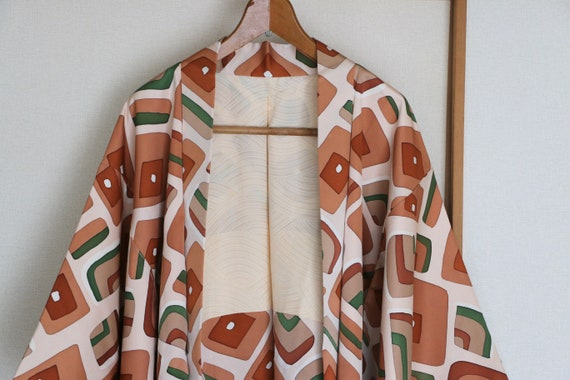 Vintage Japanese kimono Jacket ///  Haori, brown s