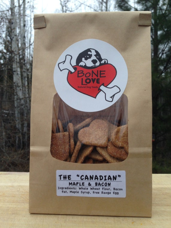 Maple Bacon The Canadian Natural Dog Treats 400g Etsy