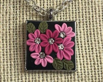 Pink Bouquet Necklace