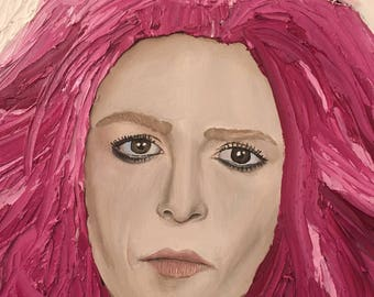 Pink-Haired Woman