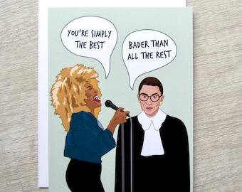Tina Turner Ruth Bader Ginsburg Funny Friendship Card