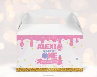 Ice Cream GABLE Box Label Printable, Snack Treat , Ice Cream Birthday, Ice Cream Label, Candy Bags Wrapper,Sparkles Chips Bags, DIGITAL 0002
