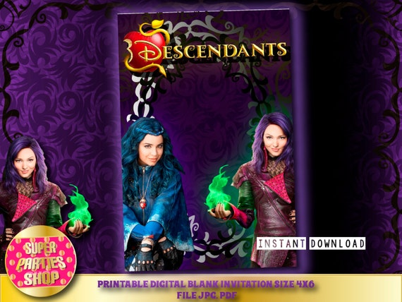 Descendants Digital Printable Party Blank Invitation