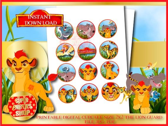 The Lion Guard Digital Printable Cupcake