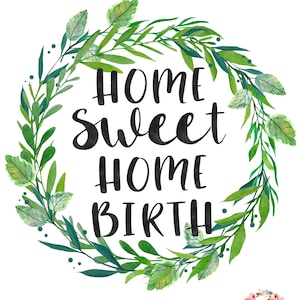 Midwife Gift Midwifery is a Work of Heart Watercolour Floral Printable Design Natural Birth Midwifery Instant Download| Crunchy Mama