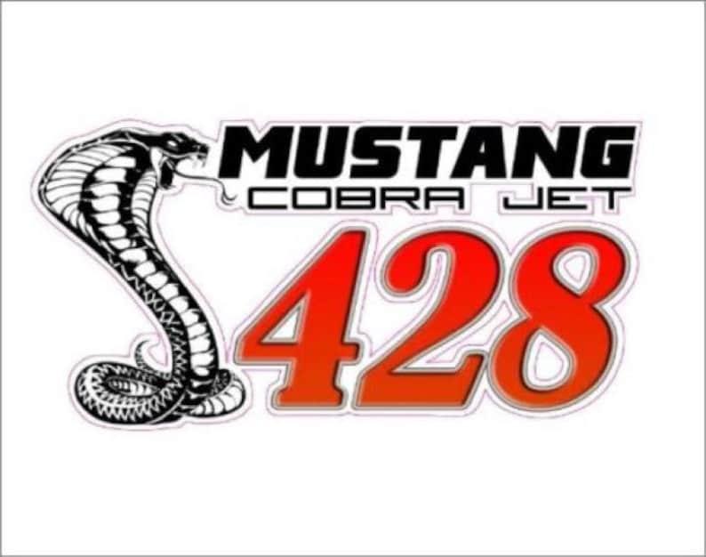 Mustang Cobra Jet 428 Sticker Decal Etsy