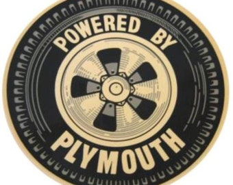 Powered By Plymouth Sticker/Decal