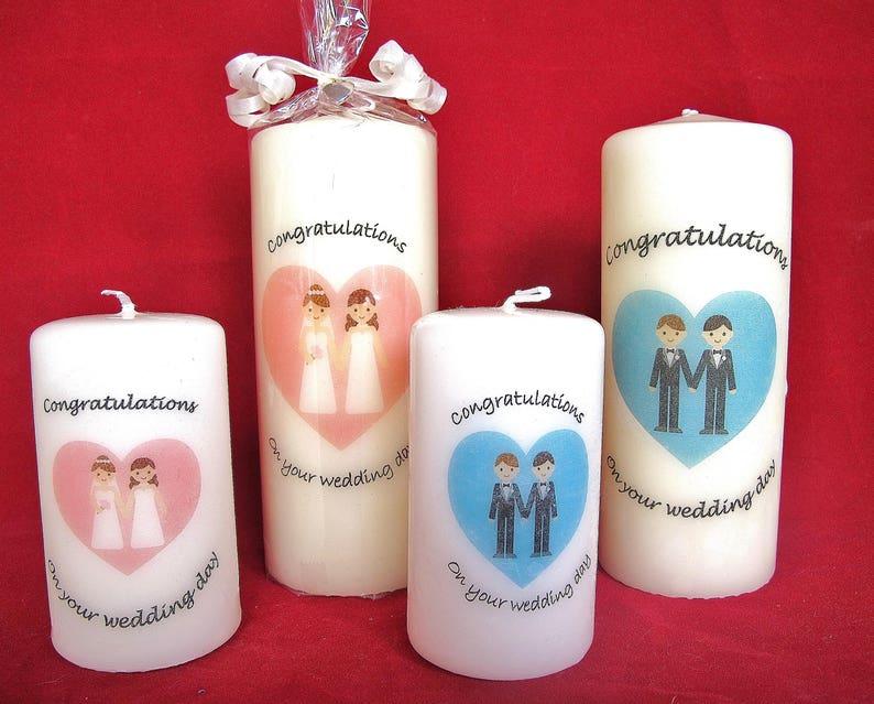 Gay nad lesbian wedding candles
