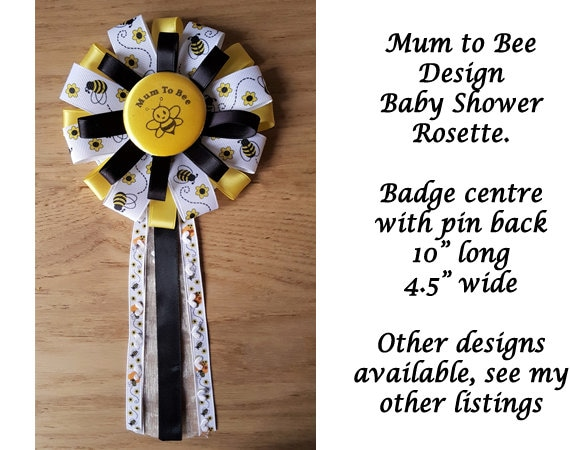 Mum to be Baby Rosette or corsage in pink