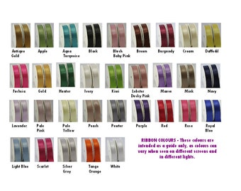 Double sided satin ribbon,  excellent quality, 5 metres
