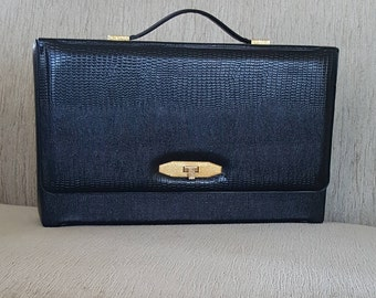 Vintage Vinyl Small Briefcase/Ipad Carry Case