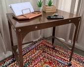 Vintage Mid Century Rolling Kitchen Cart Bar Cart Desk Night Stand Entryway Table
