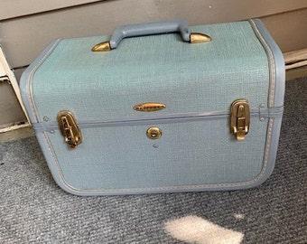 Vintage Luggage -Hard Case - Retro Storage/  Craft Carrier / Makeup Case