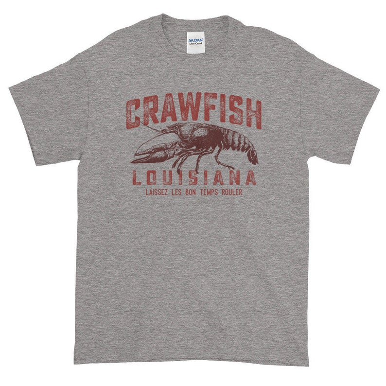 210e31e5 Louisiana Crawfish Laissez Les Bon Temps Rouler Short-Sleeve   Etsy