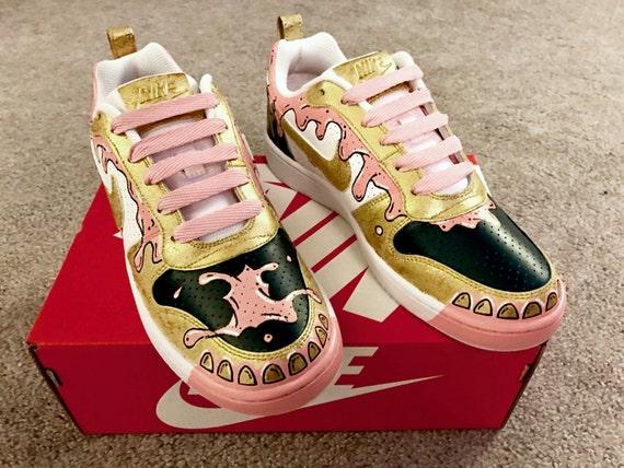 Nike zapatos pintados personalizados Bubblegum Grillz edición