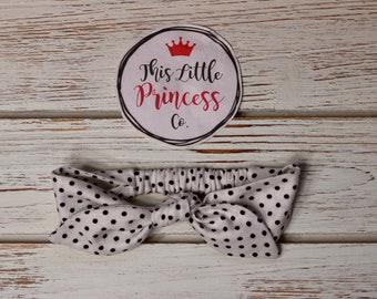 Polka Dots, Tie Up Elastic Headbands, Top Knot Headband, Girls Headbands, Knot Headbands, Baby & Toddler Headbands, Womens Headbands, Retro