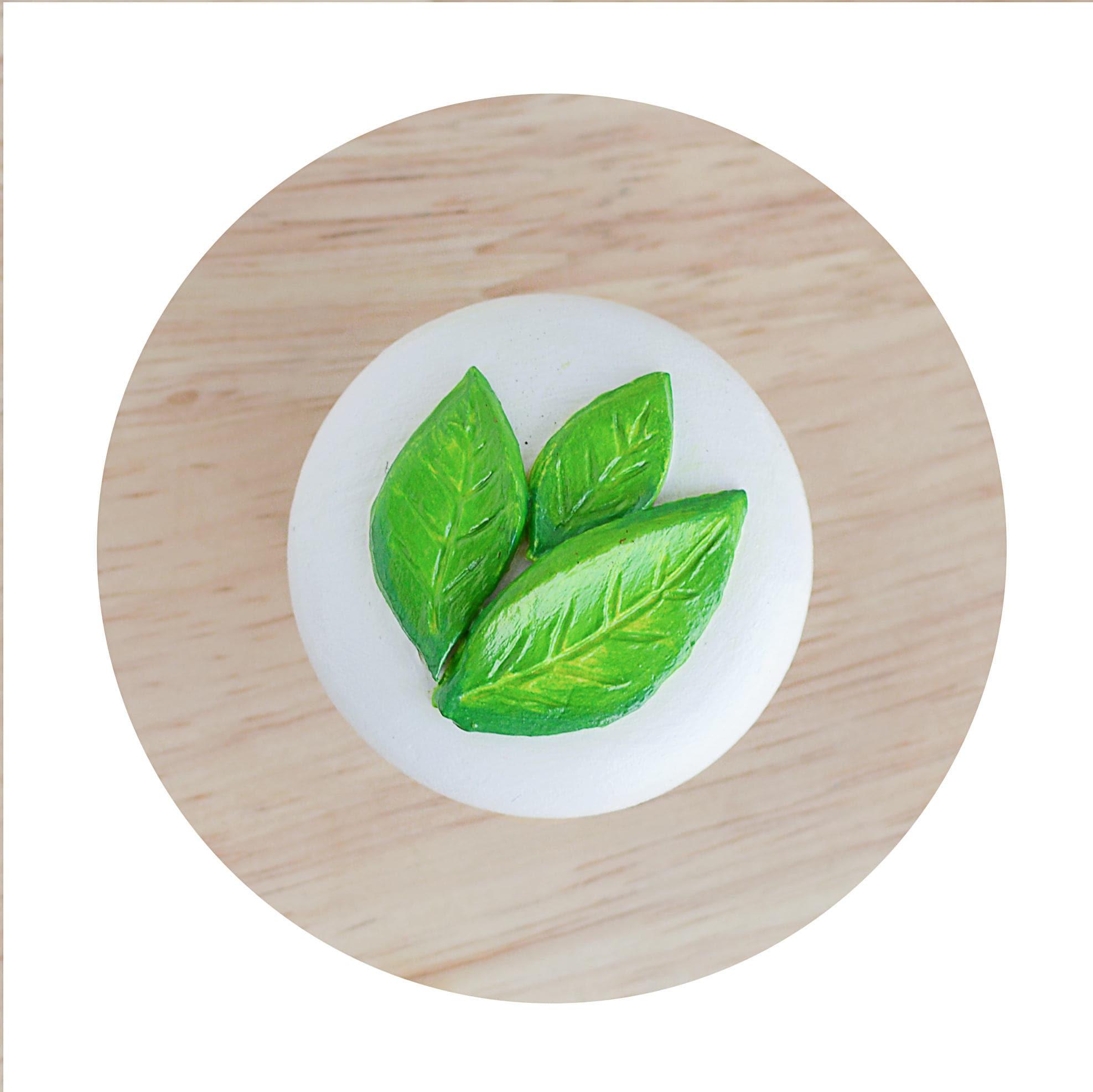 Knäufe Möbelknauf weiße Knöpfe Knopf Green Leaf Schublade