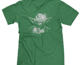 DJ Yoda Jedi Master Star Wars The Force Darth Vader Dark Side Dubstep EDM Music Men's T-shirt Tee