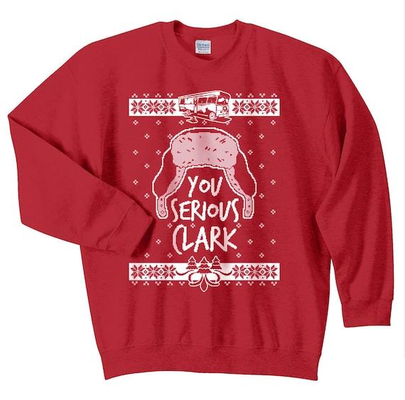 Small Brother Ugly Holiday Sweatshirt Crewneck Sweatshirt in Dark Heather