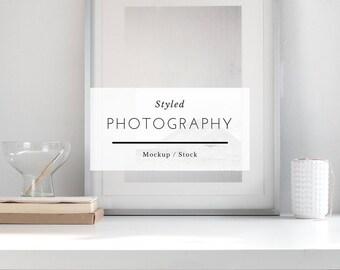8x10 frame mockup, frame mockup, styled frame mockup, minimalist frame