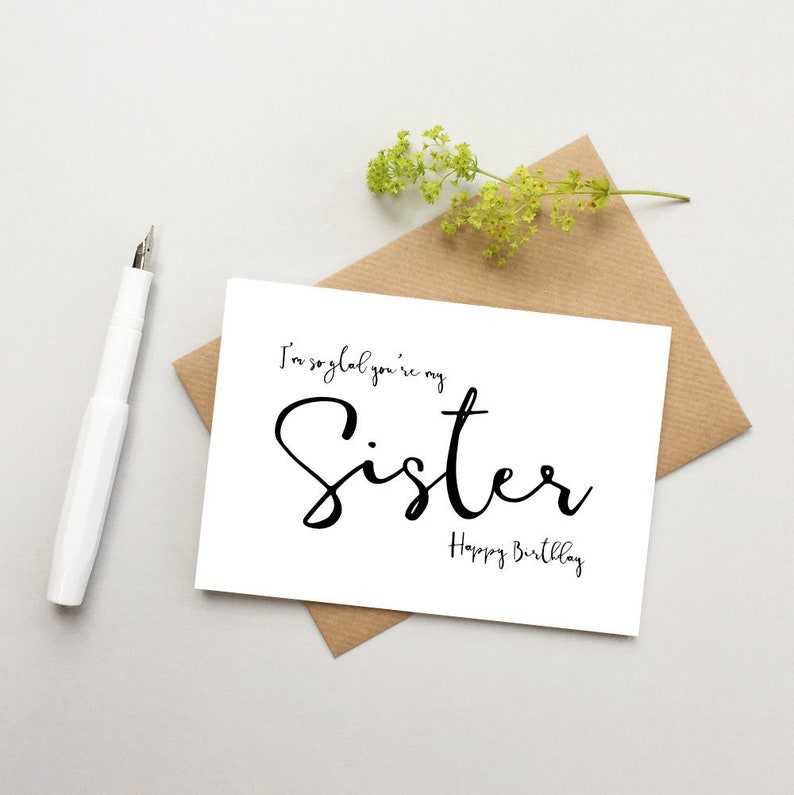 Sister Birthday Card For Happy