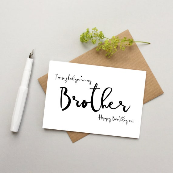 Brother Birthday card Brother card card for Brother | Etsy