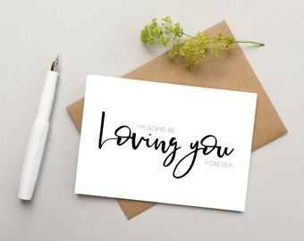 Wedding card - Anniversary card - Card for Husband - Card for Wife - Girlfriend card - Boyfriend Card - Romantic card - Valentine's card