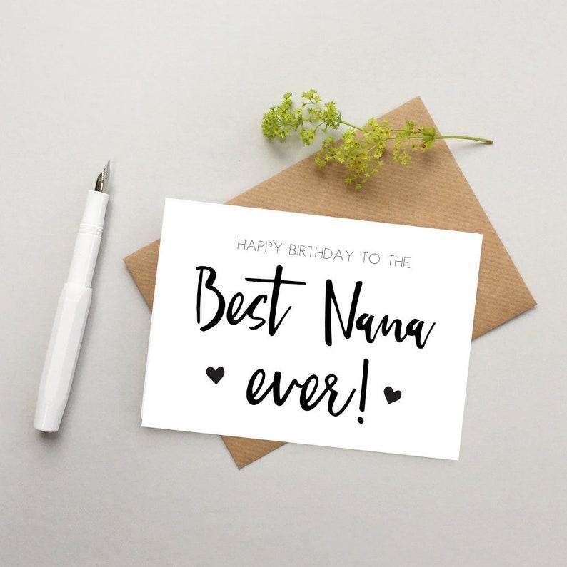 Nana Birthday Card Best For Nan
