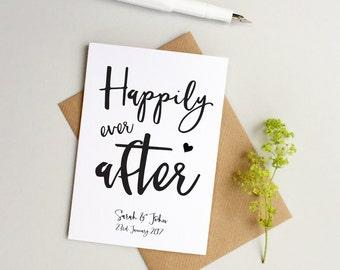 Personalised wedding card - Custom Wedding card - Personalized wedding card - Happily ever after card - Custom Anniversary card -