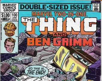 Marvel TWO-IN-ONE #100  Fantastic Fours'  the Thing