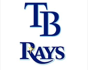 Tampa Bay Rays Logo Digital File SVG Cutting Pdf Png Dxf