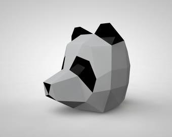 Panda Mask | Paper Mask | Papercraft 3D DIY kit