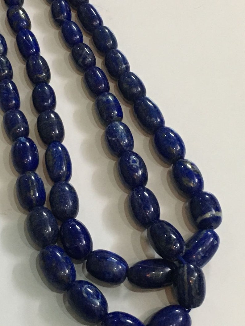 16 inches Lapis barrel shape beads,Blue natural lapis beads