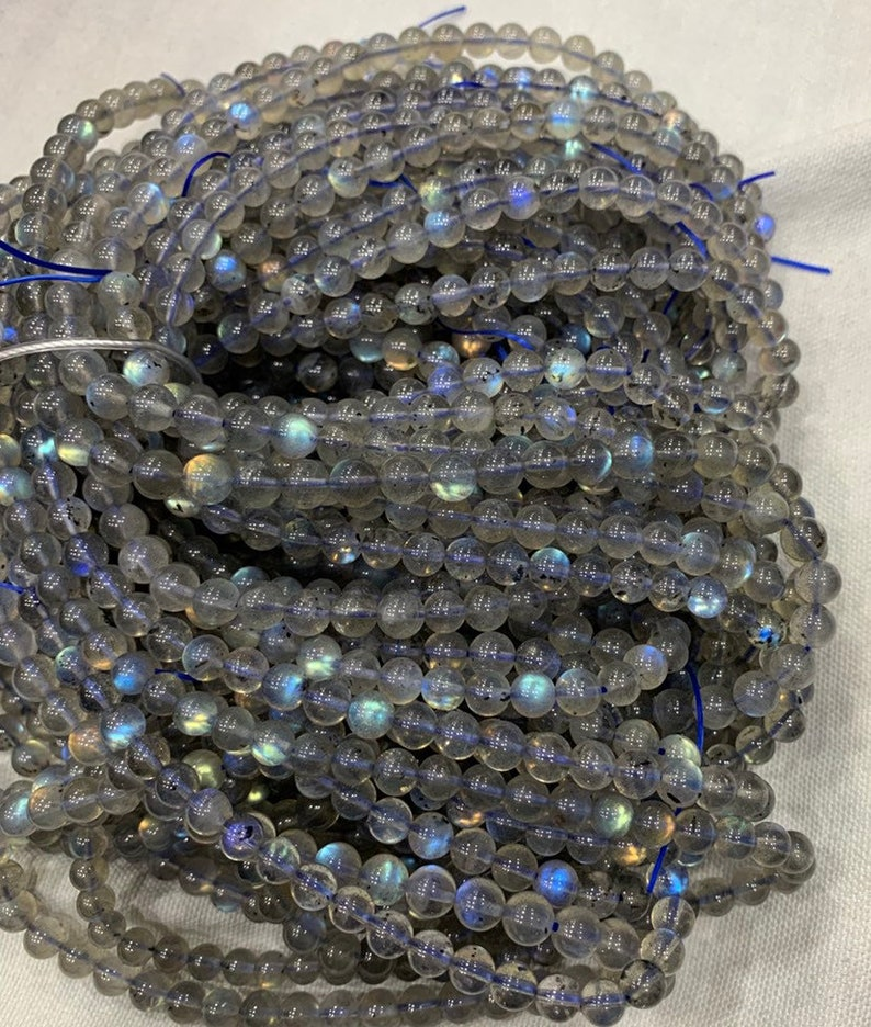 Full fire Labradorite round  Beads 22 Inches Strand,6-7mm,blue fire labradorite beads