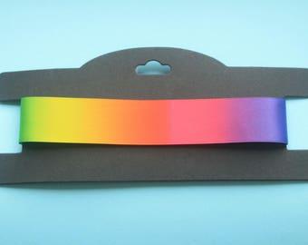 Rainbow Choker || Rainbow rave gold reversible 25mm choker