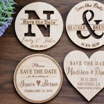 Save the Date Magnets, Heart Magnets, Wedding Save the Date Magnet, Wooden Save the Date, Rustic Save the Date, Custom Wedding Invitation
