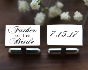 Father of the Bride Gift, Father of the Groom Gift, Cufflinks, Father of Bride, Father of Groom, Father of Bride Gift, Father of Groom Gift