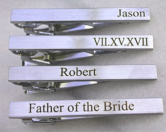 Personalized Tie Clip, Custom Tie Bar Clip, Custom Tie Clip, Christmas Gift, Personalized Tie Bar, Wedding Gift, Engraved Gifts for Usher