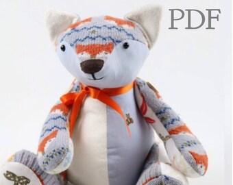 Pdf Memory Bear Sewing Pattern Download Fabric Teddy Bear Etsy
