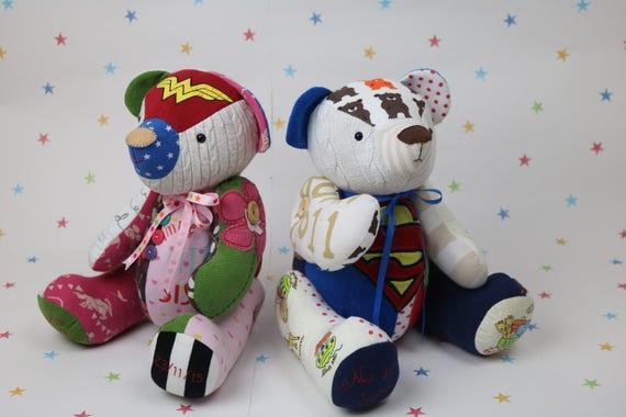 Speicher-Bär-Muster geschrieben Andenken Teddybär | Etsy