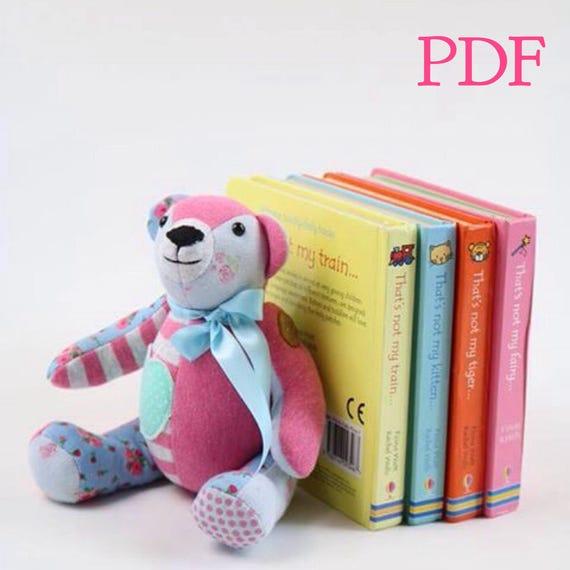 Pdf Mini Memory Bear Sewing Pattern Digital Small Keepsake Etsy