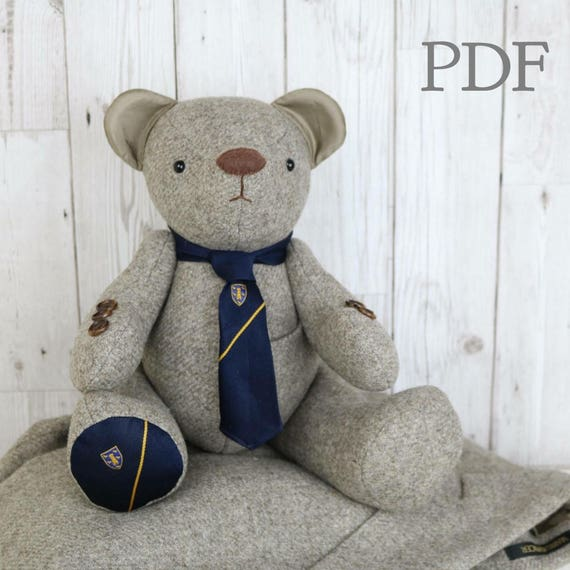Pdf Memory Bear Sewing Pattern Download Fabric Teddy Bear Etsy