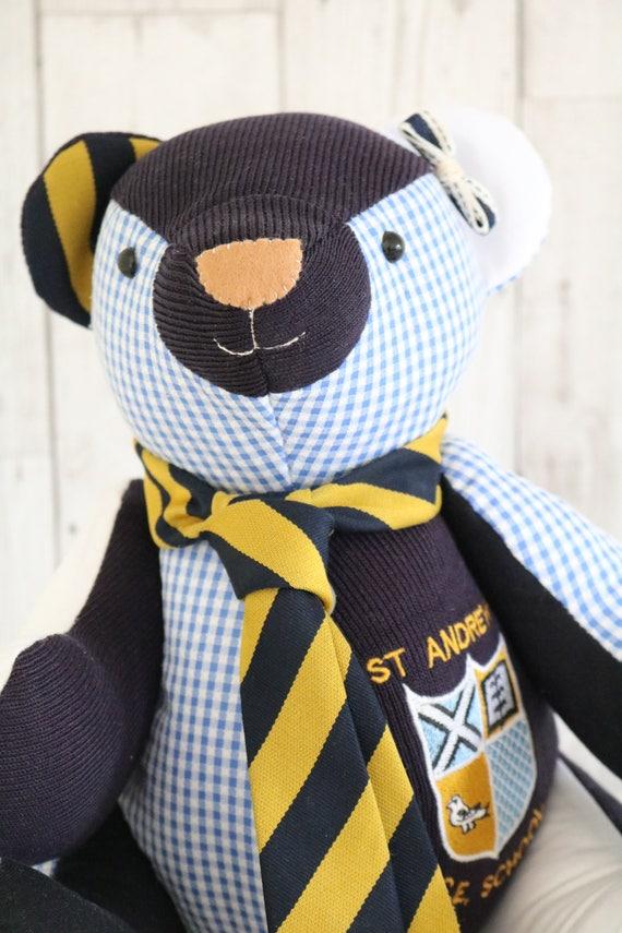 Memory Bear Pattern School Uniform Teddy Bear Pdf Download Etsy