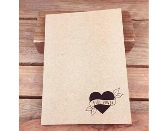 Girl Power Eco Notebook, Jotter, Sketchbook, Journal A5