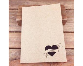 Cheese Eco Notebook, Jotter, Sketchbook, Journal A5