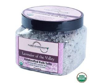 Bath Salts (USDA Organic) Lavender Soak - Pure Relaxing Sea Salts - FREE SHIPPING