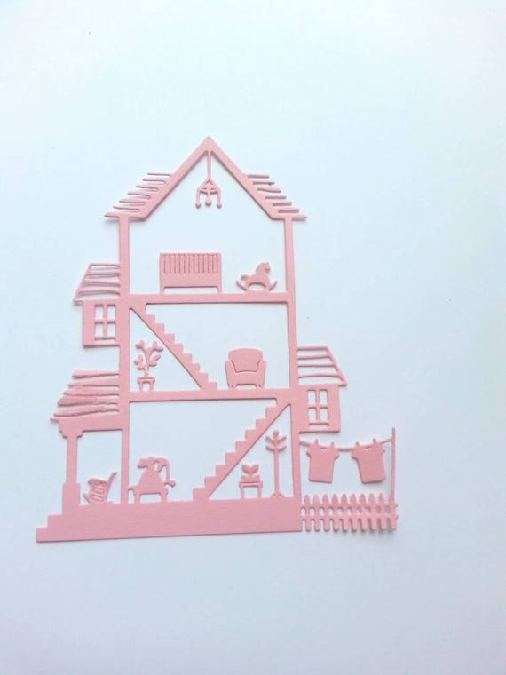 Doll House Paper Die Cuts Cards Making Supplies Scrapbook Etsy
