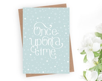 Once Upon a Time Wedding card