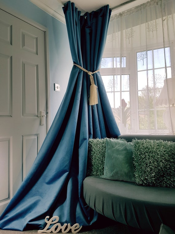 """Large Bay Curtains 100/%Irish Linen Oatmeal Interlined Heavy 93/"""" Long 110/"""" Wide"""